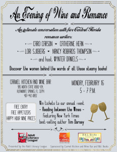 Wine and Romance flyer